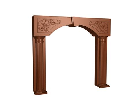 decorative frame door carved wooden decorative door frame 3d model 3dsmax 3ds