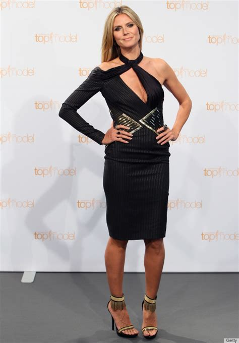 best top model heidi klum s top model dress is a perplexing