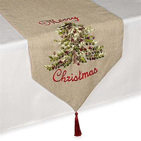 bed bath and beyond table runners ribboned christmas tree table runner bed bath beyond