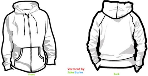 hoodie vector template free zip up hoodie clipart cliparthut free clipart