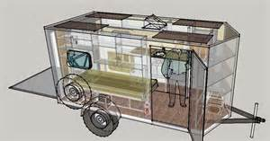 Cargo Trailer Conversion Floor Plans by Travels Of A Rambling Van What If The Cargo Trailer Version