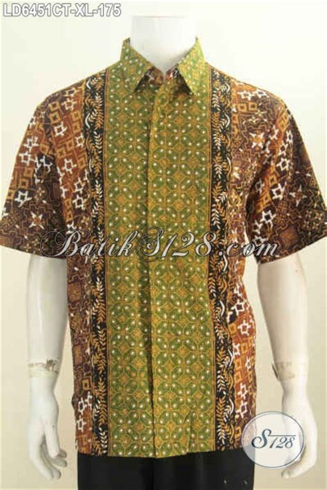 4387 Kemeja Batik Pria Semi Hem Kerja Seragam Murah sedia baju batik hem seragam kerja pria dewasa pakaian