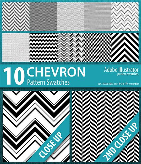 adobe illustrator cs2 pattern swatches 10 chevron stripes pattern swatches by doucettedesigns