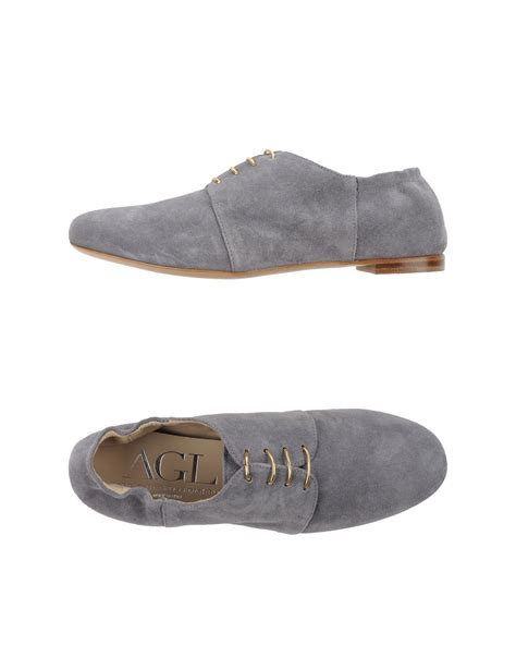 agl shoes agl attilio giusti leombruni lace up shoes in gray lyst