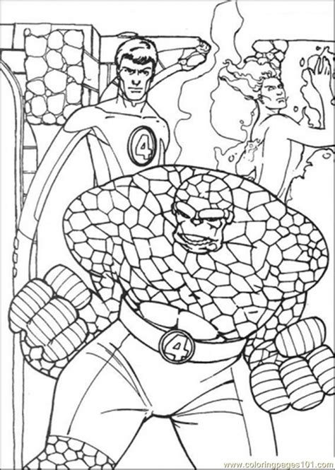 Fantastic 4 Coloring Pages by Fantastic Four Coloring Pages Coloring Home