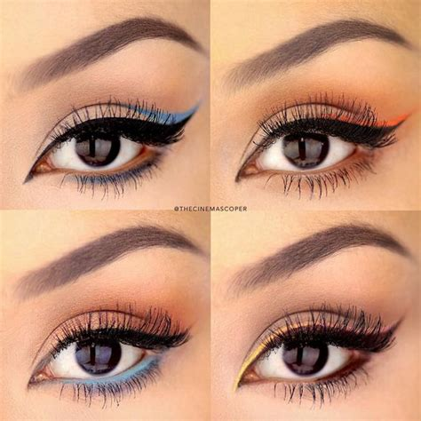colorful eyeliner how to apply dramatic colorful eyeliner crazyforus