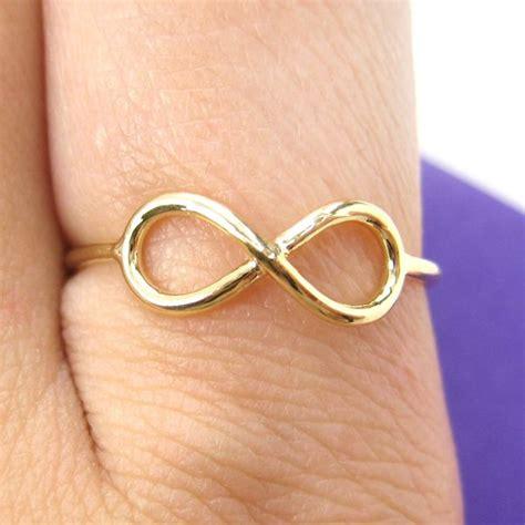 simple infinity loop outline promise friendship ring in