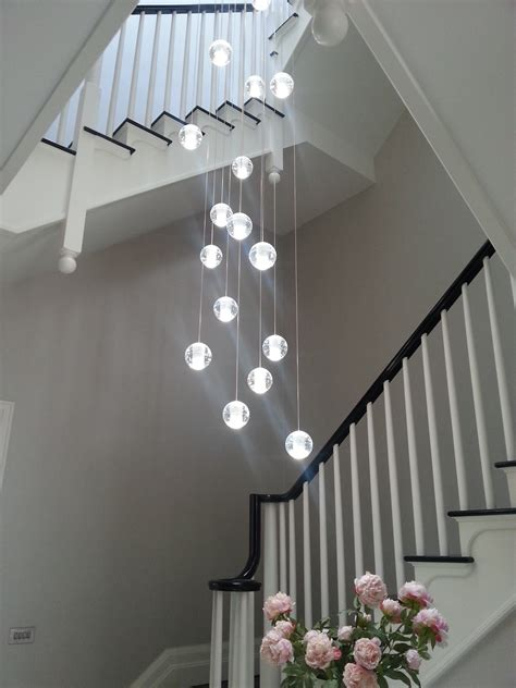 Modern Chandelier Lighting Uk Air Bubble Long Stairwell Chandelier