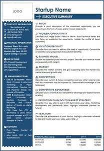 executive summary word template 5 executive summary templates word excel pdf templates