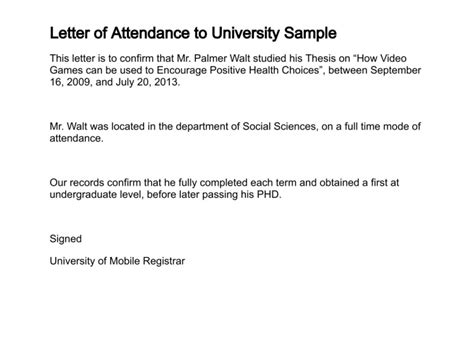Proof Of Participation Letter Letter Of Attendance