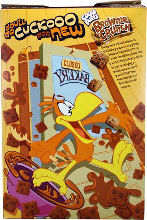 cocoa puffs brownie crunch brownie crunch cereal box