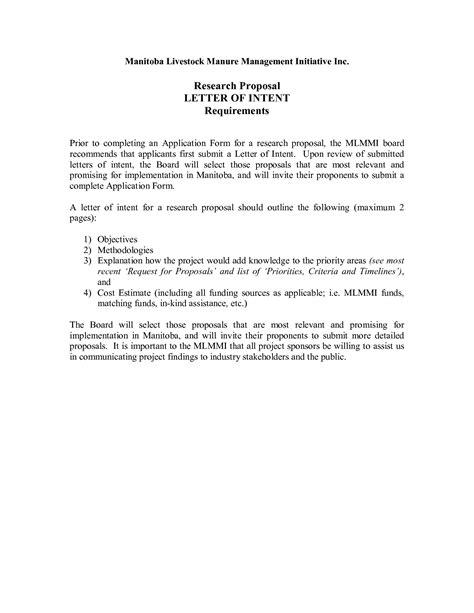 Letter Of Intent For Rfp Exle best photos of letter of intent for sle