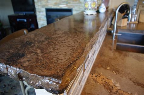 rustic bar tops broken flagstone bar the rustic countertop pinterest