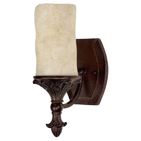 Mediterranean Wall Sconces Filament Design 1 Light Mediterranean Bronze Sconce With