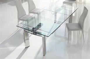 Glass Round Dining Room Table Ausziehbarer Esstisch Aus Glas Holz Und Kunststoff