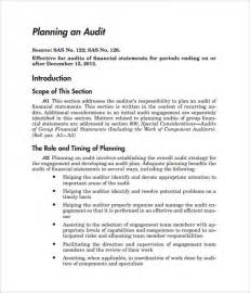 audit programs templates sle audit plan 7 documents in word pdf