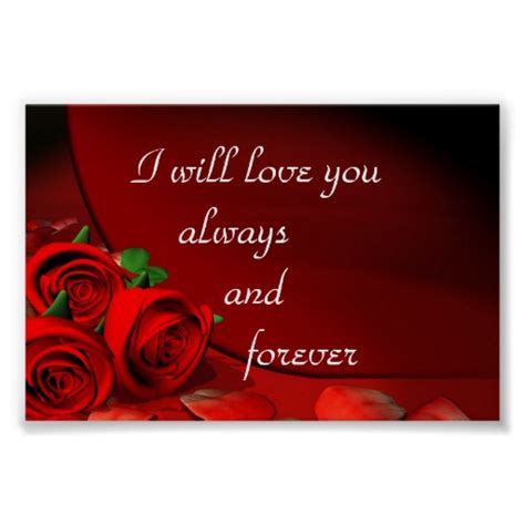 I You Forever And Always i will you always and forever poster zazzle