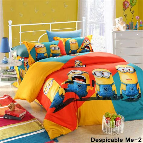 despicable me bed set 2018 new 3d cartoon despicable me bedding sets frozen elsa