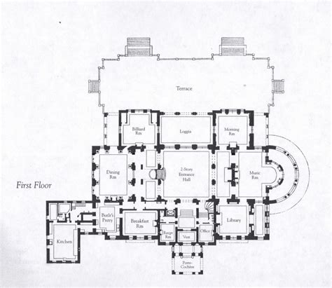 vanderbilt floor plans floorplans for gilded age mansions skyscraperpage forum