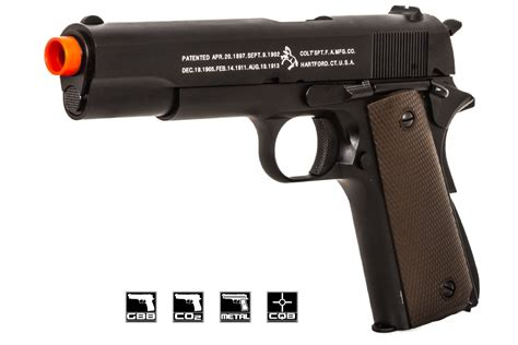 Airsoft Gun Colt colt wwii 1911 government pistol gbb airsoft gun by kjw black airsoft gi largest airsoft