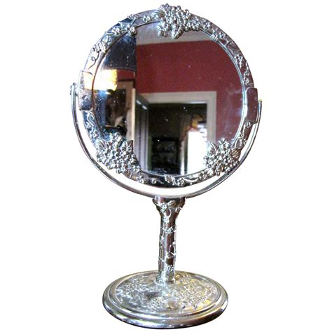 Three Sided Mirror Vanity by Sweet Two Sided Silver Plated Vanity Mirror From
