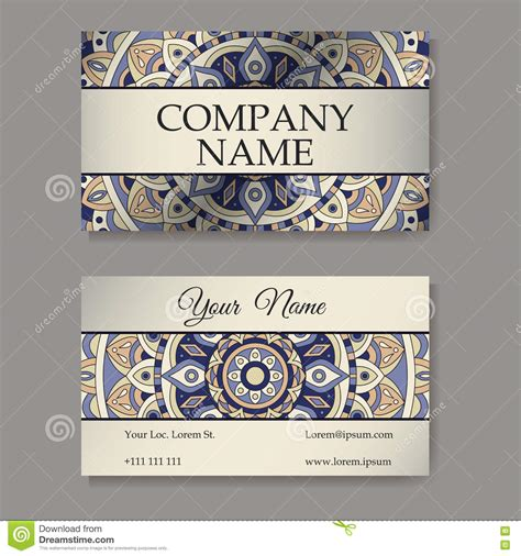 arabic business cards templates vector template business card geometric background card