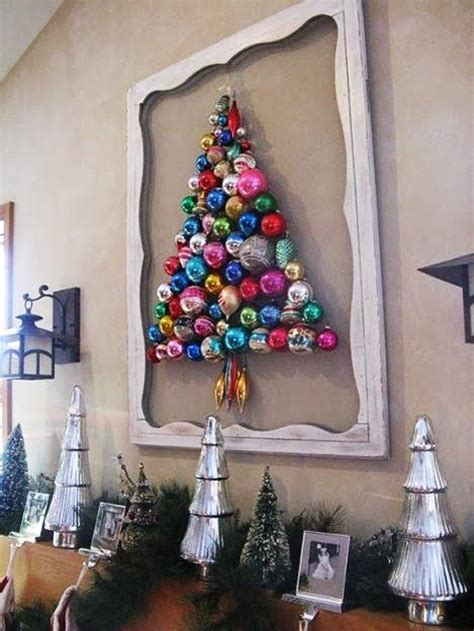 christmas tree made out of ornaments 25 ways to recycle tree decorations for creative decor