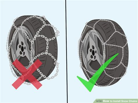 install snow chains  steps  pictures wikihow