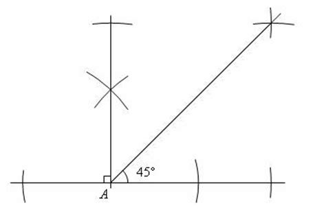 45 degree angle construct a 45 degree angle solutions exles