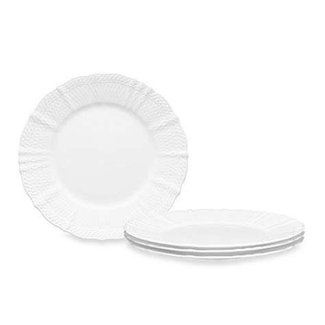 bed bath and beyond dinner plates noritake 174 cher blanc dinner plates set of 4 bed bath