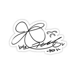 J T Home Design Reviews quot bts v signature quot stickers by musicalsamurai redbubble