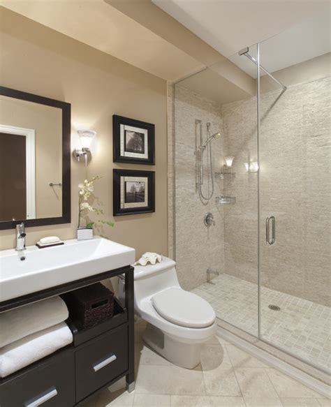 Houzz Cim | port credit townhome transitional bathroom