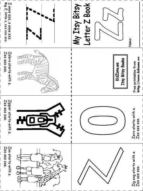 College With Letter Z kindergarten worksheets letter z letter z worksheets