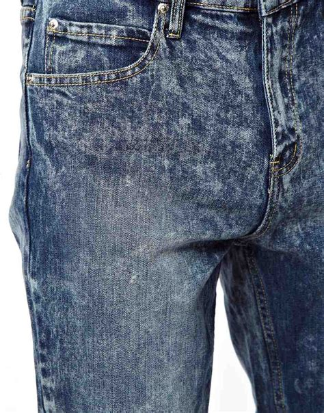 Topi Wrangler Denim by Cheap Monday Dropped Tapered Fit In Tobi Blue In