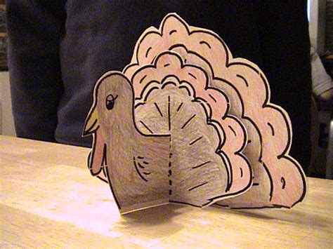 printable stand up turkey designs with heart fall thanksgiving crafts