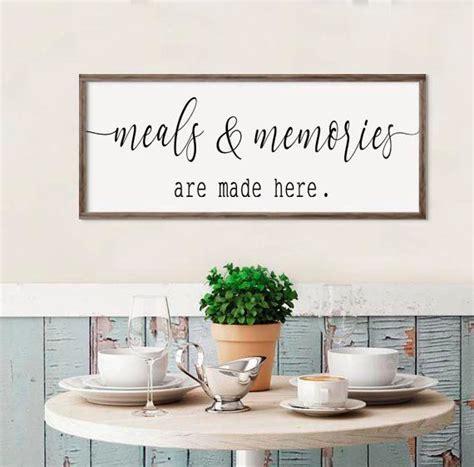 large kitchen sign meals memories