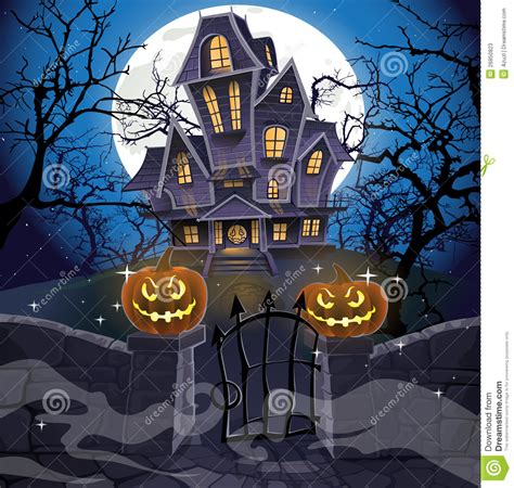 scary music for haunted house happy halloween cozy haunted house stock photos image