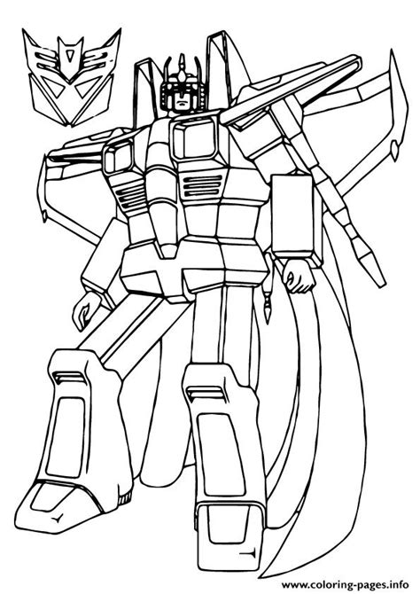 starscream coloring page transformers star scream a4 coloring pages printable
