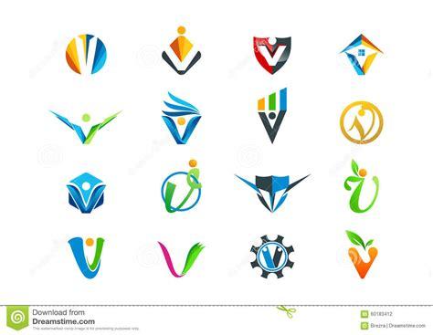 v layout là gì conception de logo de concept de la lettre v illustration