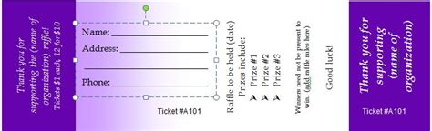 40 Free Editable Raffle Movie Ticket Templates Free Editable Raffle Ticket Template