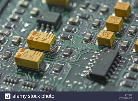 pcb design jobs san diego macro photo of printed circuit board pcb showing yellow