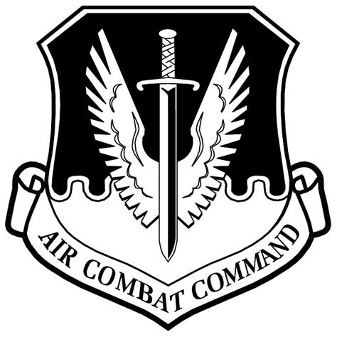 Black Tag White Patch Army Ready Stock air combat command vector emblem at vectorportal