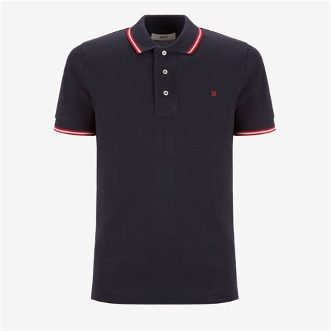 Details T Shirts stripe detail polo shirt s tops bally
