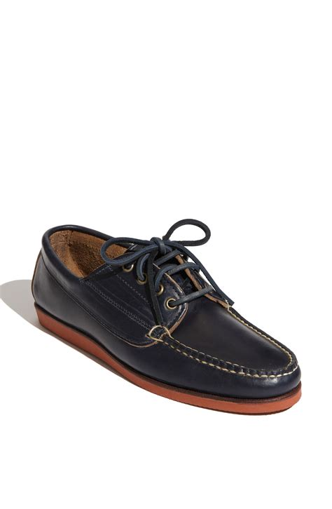 eastland shoes eastland falmouth usa boat shoe in blue for navy