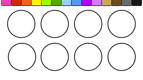 color circles learn colors for and color circles more