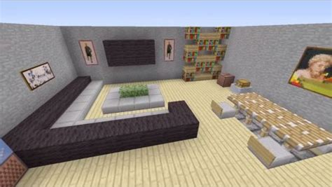 Living Room Design Minecraft Pe Minecraft House Interior Living Room Search