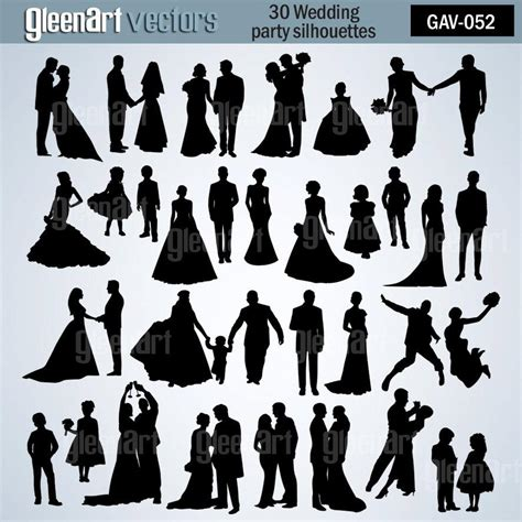 Wedding Silhouette by 50 Sale 30 Wedding Silhouette Wedding Clipart