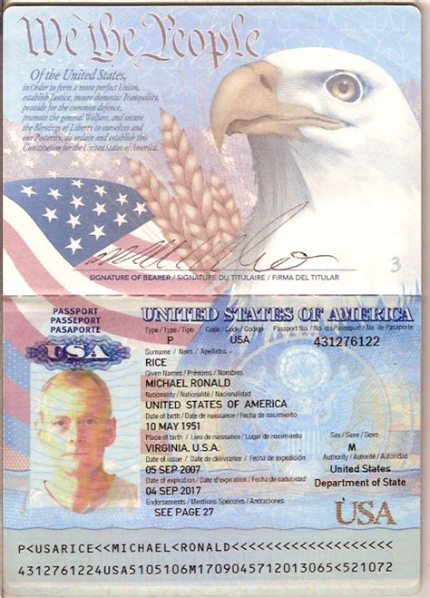 us passport template passport