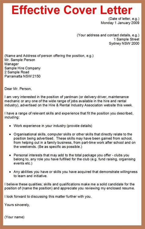 how to write a effective cover letter the world s catalog of ideas