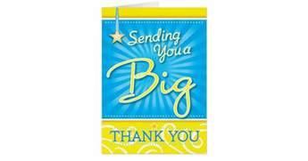 a big thank you card zazzle